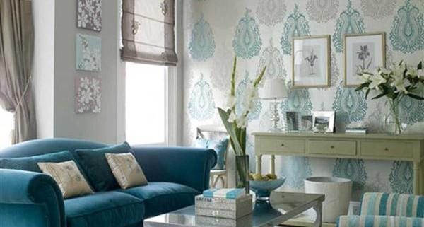 1-inspiring-blue-wallpaper-small-living-room