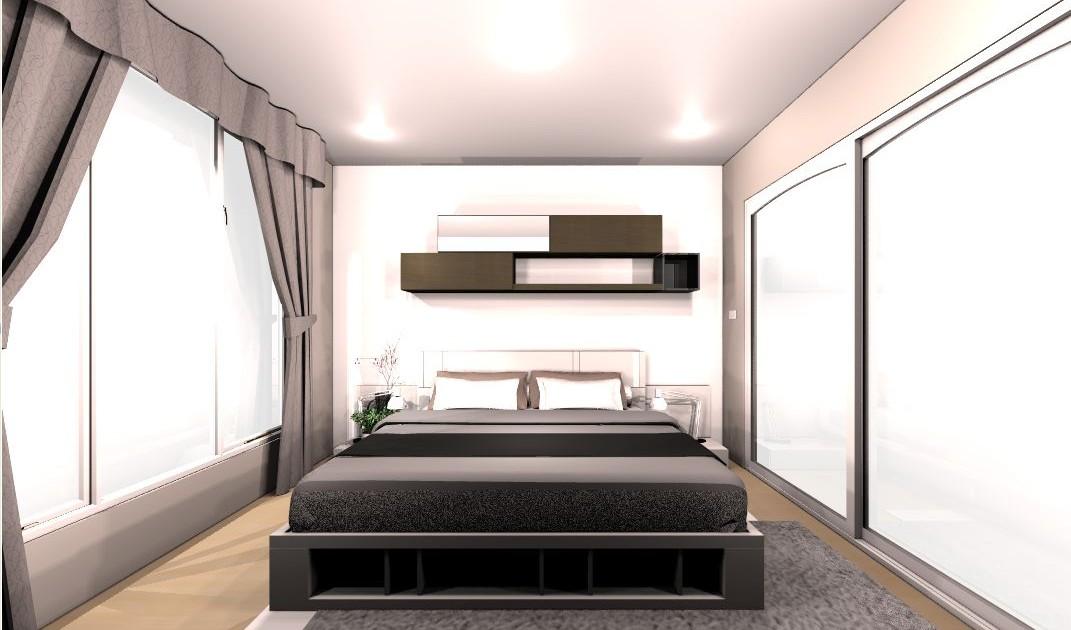 แบบเตียง SPAZIO 6 ฟุต 4
