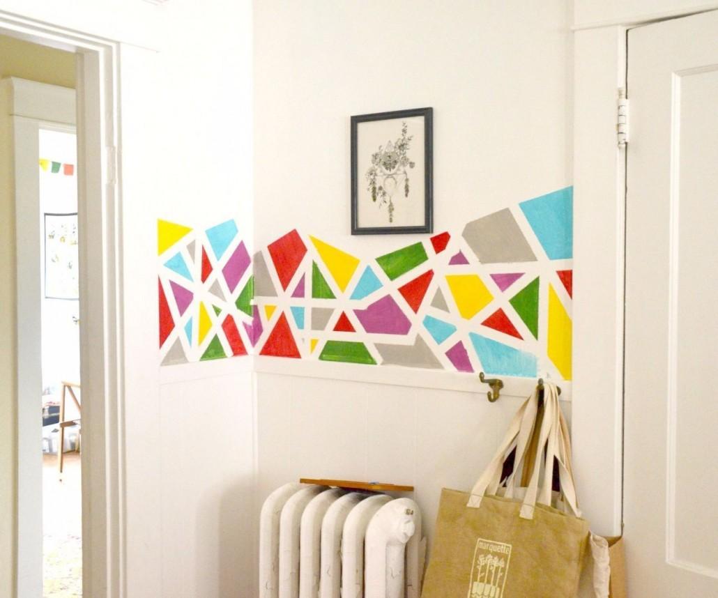Entryway-geometric-pattern