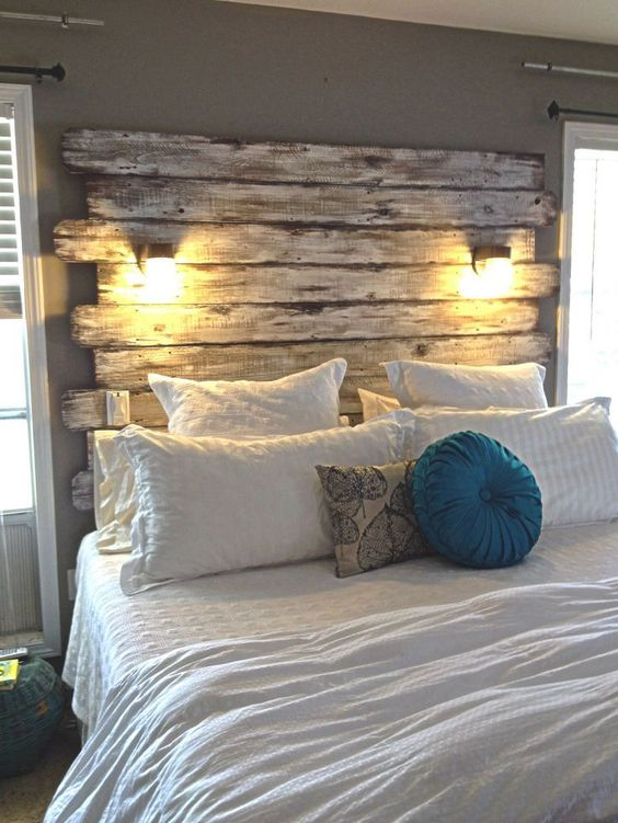 cheap-easy-pallet-headboard-bed-idea